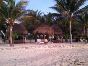 Hidden Beach Resort Palapas