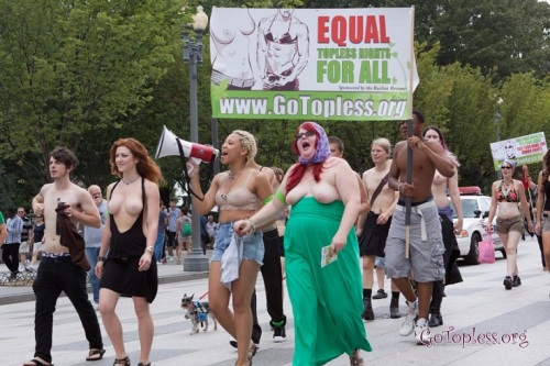 2012 GoTopless Rally in D.C. Photo: www.gotopless.org