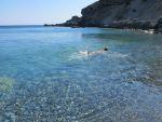 Swimming at Filaki Beach