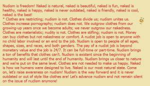nakedness is cool